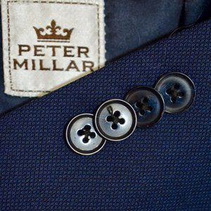 BIG 46R Peter Millar Blue HOPSAK Dual Vent blazer